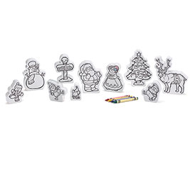 WOODEN COLOR ME CHRISTMAS CHARACTERS