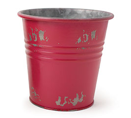 DISTRESSED RED POT COVER