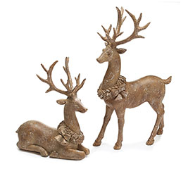 LIGHT BROWN SCULPTED RESIN DEER
