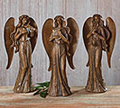 BROWN RESIN SCULPTED ANGELS