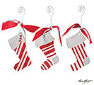 ASSORTED CERAMIC CHRISTMAS STOCKINGS