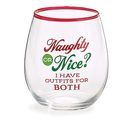 NAUGHTY NICE/OUTFIT STEMLESS WINE GLASS