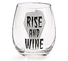 RISE AND WINE STEMLESS WINE GLASS