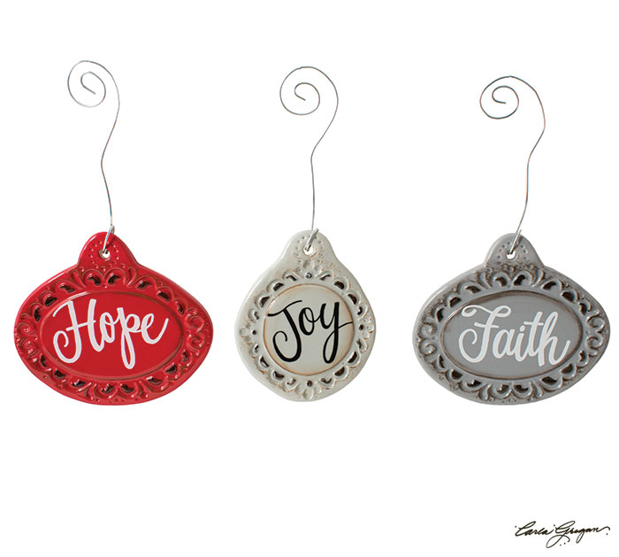 CERAMIC MEDALLION ORNAMENTS WITH MESSAGE