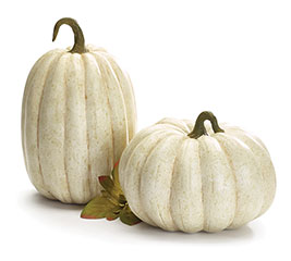 REALISTIC IVORY RESIN PUMPKIN SET