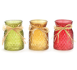 GLASS FALL COLORS VASE/CANDLEHOLDERS