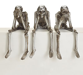 NO EVIL SKELETON TRIO WITH DANGLE LEGS