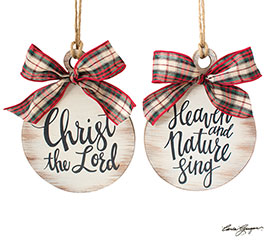 RELIGIOUS MESSAGE ORNAMENT ASSORTMENT