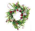 "22"" CHRISTMAS WREATH WITH DECORATIONS"