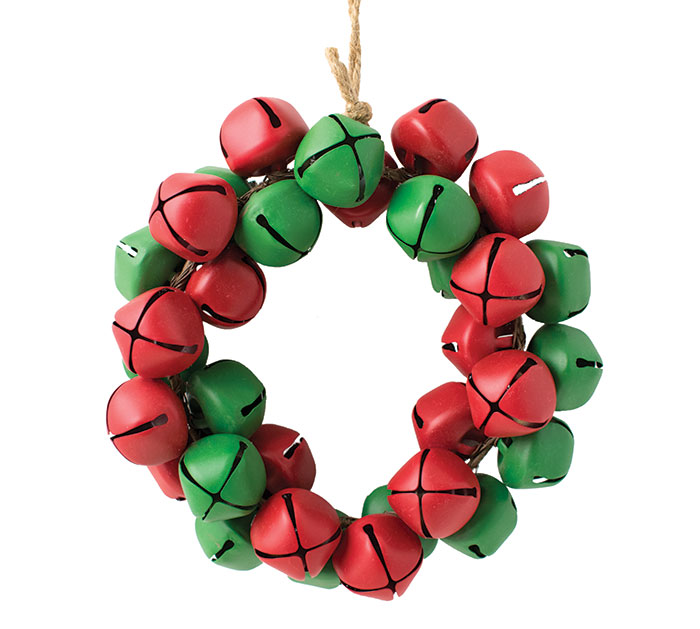"7"" RED AND GREEN JINGLE BELL ORNAMENT"