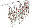"""26"""" GREENERY SPRAY WITH RED BELLS"""