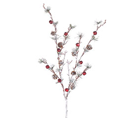 """34"""" CHRISTMAS SPRAY WITH RED BELLS"""