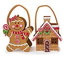 ASSORTED FELT CHRISTMAS CHARACTER BAGS