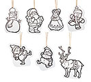 7 PIECE COLOR ME CHRISTMAS ORNAMENT SET