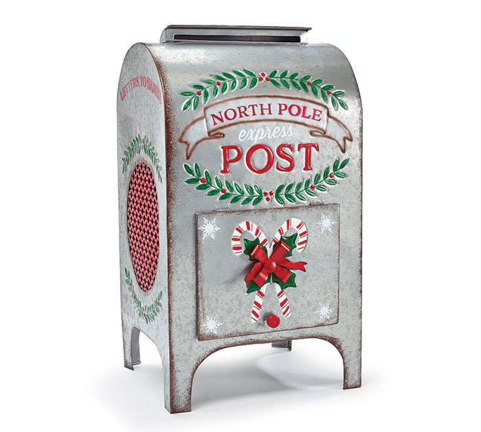NORTH POLE EXPRESS OLD FASHIONED MAILBOX