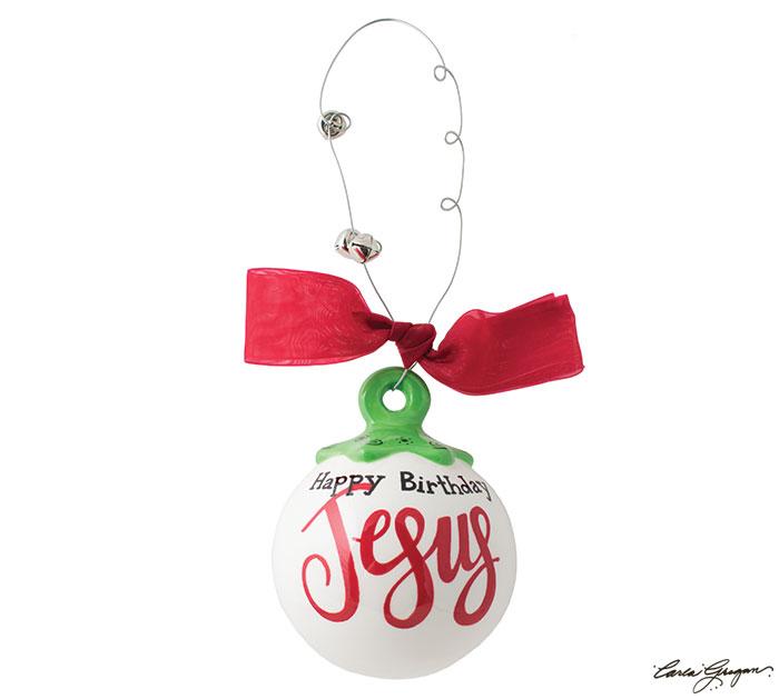 HAPPY BIRTHDAY JESUS ORNAMENT BALL SHAPE
