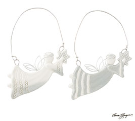 SMALL FLYING ANGEL ASSORTED ORNAMENTS