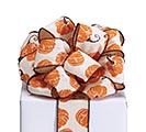 #40 ORANGE PUMPKIN RIBBON