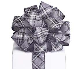 #9 BLACK/WHITE DIAMOND RIBBON