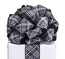 #40 BLACK/WHITE DIAMOND ON GRAY RIBBON