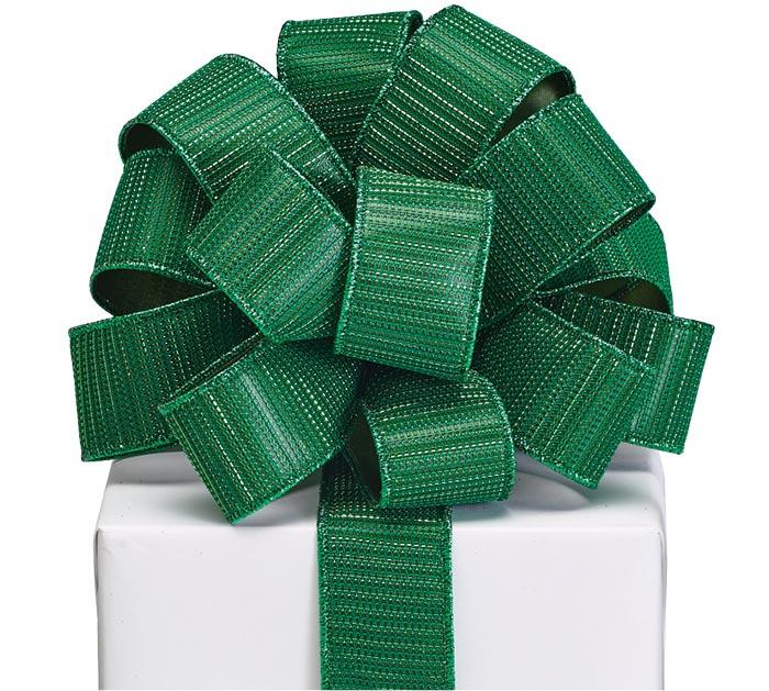 #9 METALLIC GREEN RIBBON