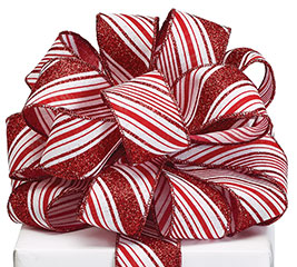 #9 CANDY CANE STRIPE RIBBON