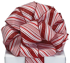 #40 CANDY CANE STRIPE RIBBON