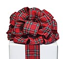 #40 RED TARTAN PLAID RIBBON