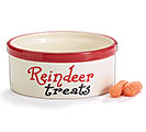 REINDEER TREATS CERAMIC DISH