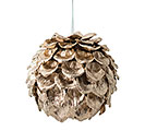 "4.5"" ROUND GOLD PINECONE ORNAMENT"