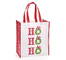 HO HO HO TOTE WITH WHITE, RED  GREEN