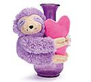 LAVENDER SLOTH VASE HUGGER WITH HEART 1st Alternate Image