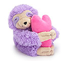 LAVENDER SLOTH VASE HUGGER WITH HEART