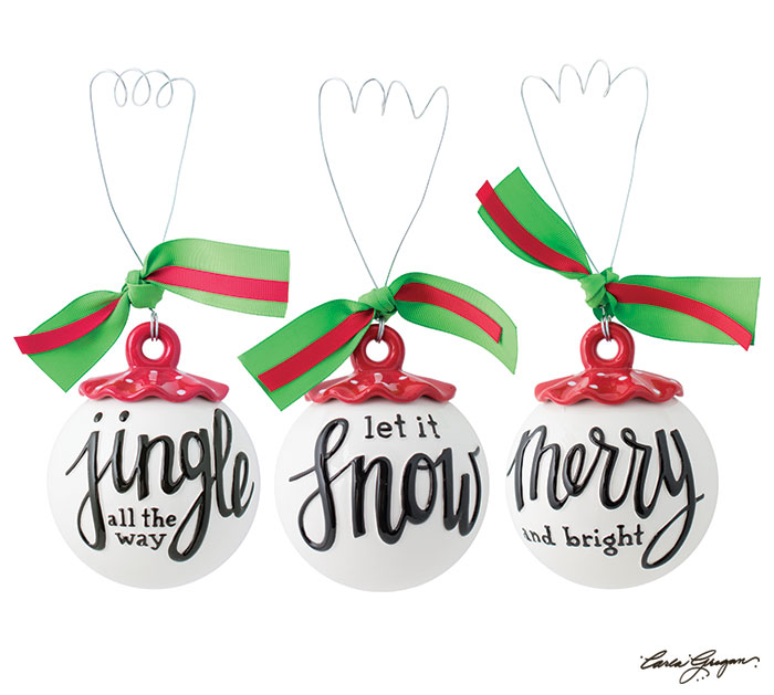 CHRISTMAS SONG ORNAMENTS IN THREE STYLES