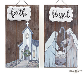 CHRISTMAS WALL HANGING WITH MESSAGE
