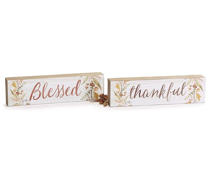 THANKFUL/BLESSED REVERSIBLE SHELF SITTER