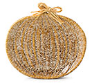 VARIEGATED PUMPKIN SHAPE PLATE