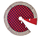 """48"""" ROUND RED AND BLACK CHECK TREE SKIRT"""
