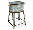 GALVANIZED TIN TUB ON STAND