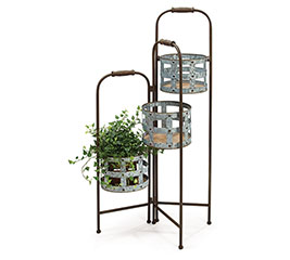 DISPLAY PLANTER STAND WITH OPEN PLANTERS