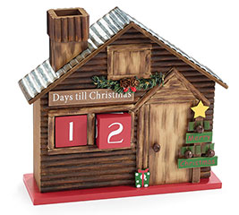 CHRISTMAS COUNTDOWN LOG CABIN