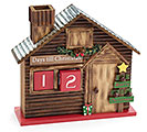 CHRISTMAS COUNTDOWN LOG CABIN