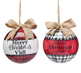 "4"" ASTD MERRY CHRISTMAS Y'ALL"