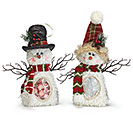 PLUSH CANDY BAG SNOWMAN ASSORTED