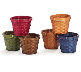 "4"" ASSORTED BAMBOO POT COVER"