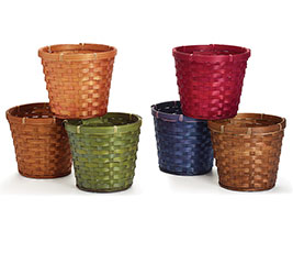 """6"""" ASSORTED BAMBOO POT COVER"""