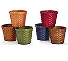 "6"" ASSORTED BAMBOO POT COVER"