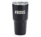#BOSS BLACK STAINLESS STEEL TUMBLER
