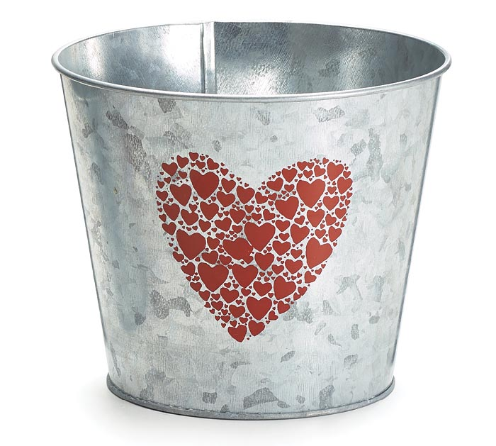 RED HEART GALVANIZED POT COVER