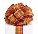 #40 FALL PLAID WIRED RIBBON